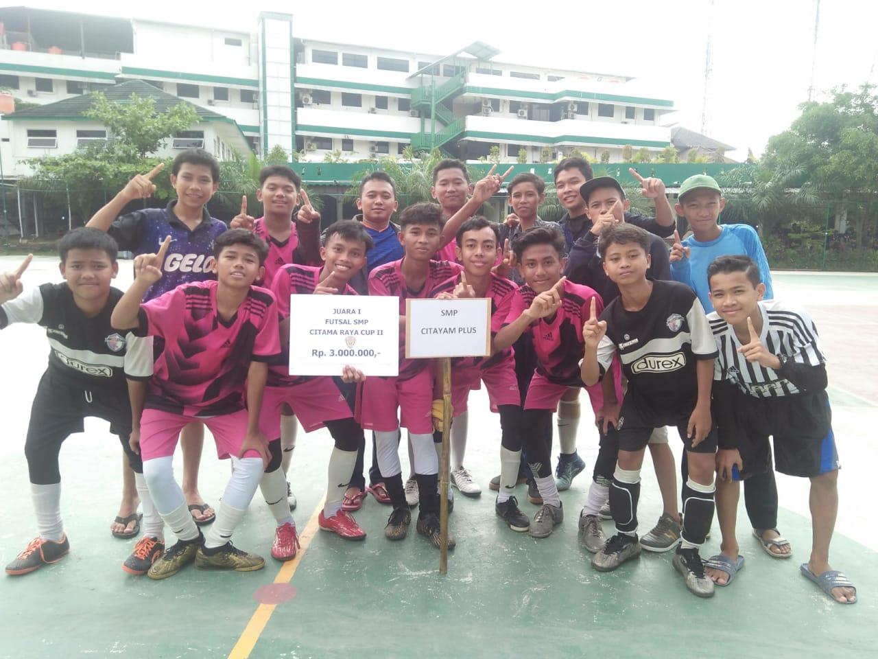 Juara Futsal Ke 1 Tingkat SMP Se Tajur halang